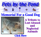 Memorial For a Good Dog at Pets by the Pond